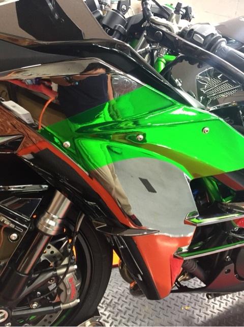 Ninjya H2グリーン銀鏡
