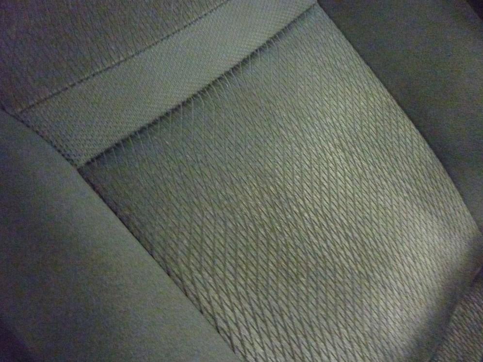 洗浄後のシートの背もたれ